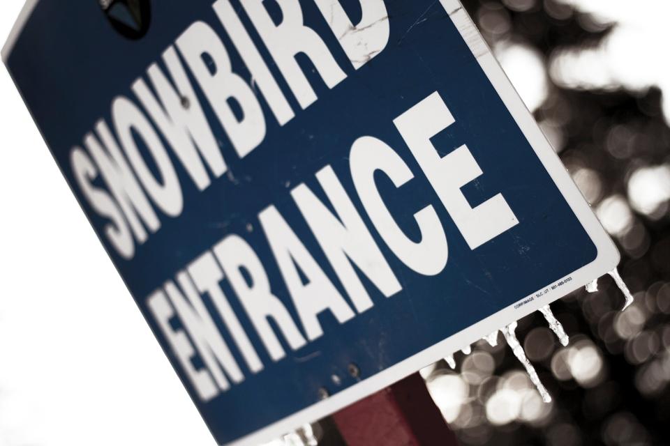 Snowbird Entrance Sign